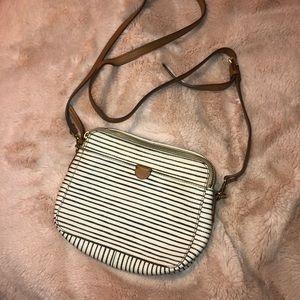 Fossil striped shoulder crossbody purse